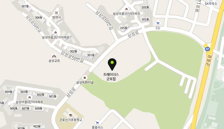 군포점 지도안내