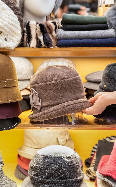 후리스 리본 벙거지 모자