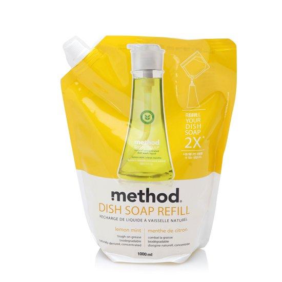 메소드 주방세제 리필1000ml(레몬민트)