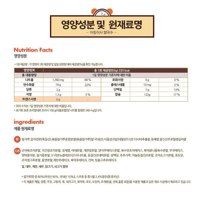 영양성분 및 원재료명