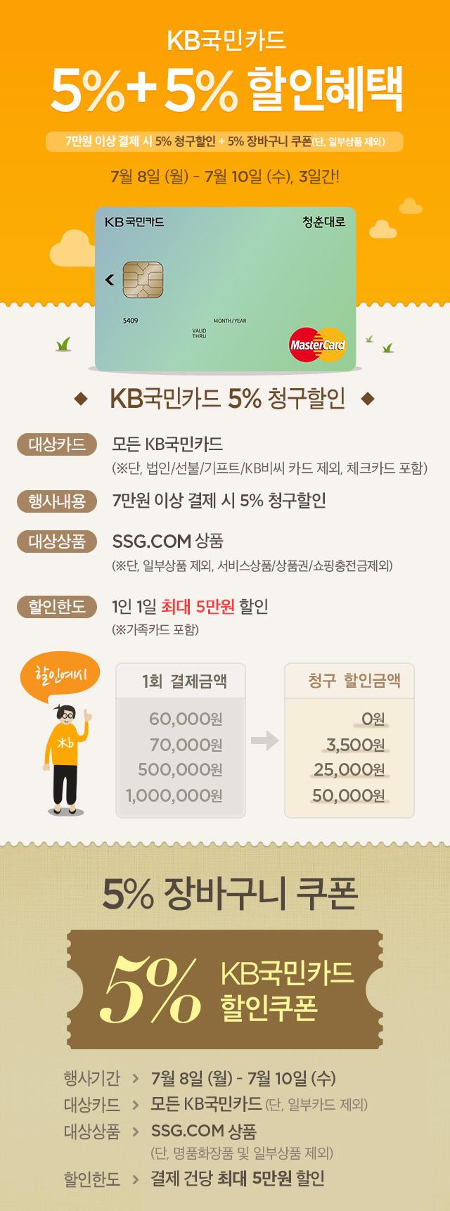 b661d3872d5 KB국민카드 7만원이상 결제 시 5% 청구할인 + 5% 쿠폰