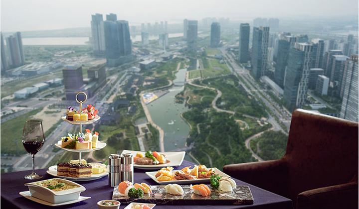 로비를 시작으로 호텔의 모든 시설이 36층부터 시작한다 ©오크우드 프리미어 인천