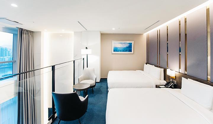프리미어 스위트룸 침실 ©센텀 프리미어 호텔