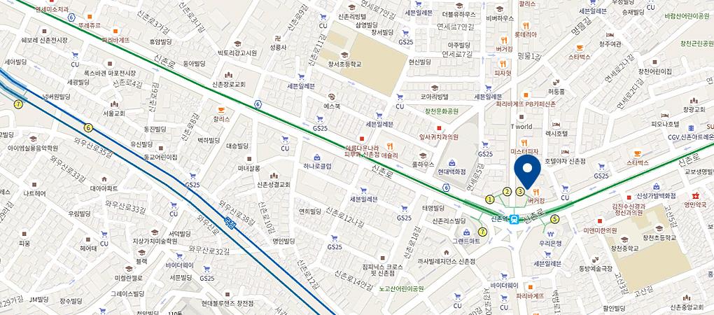 신촌점 지도