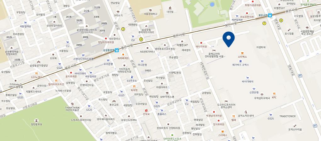 코엑스점 지도