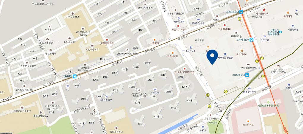 고속터미널점 지도