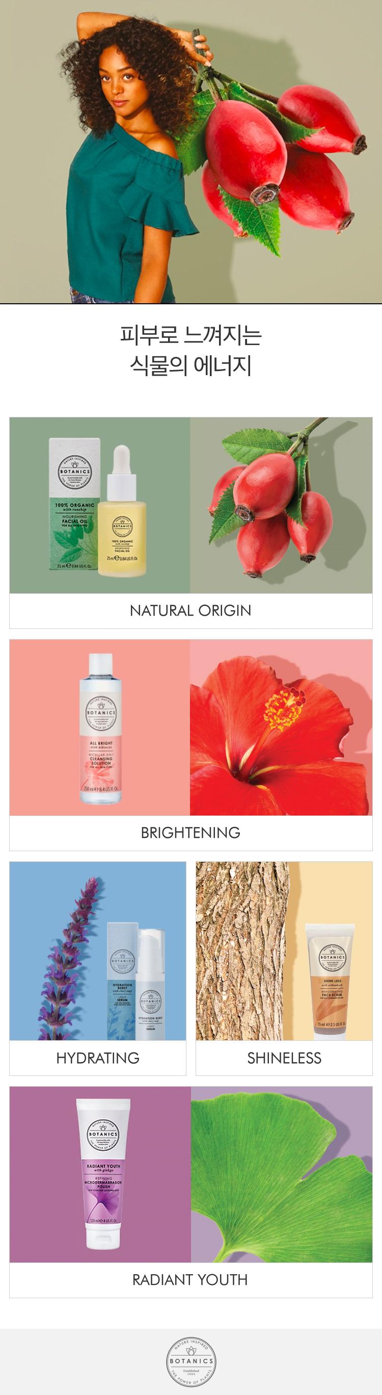 피부로 느껴지는 식물의 에너지