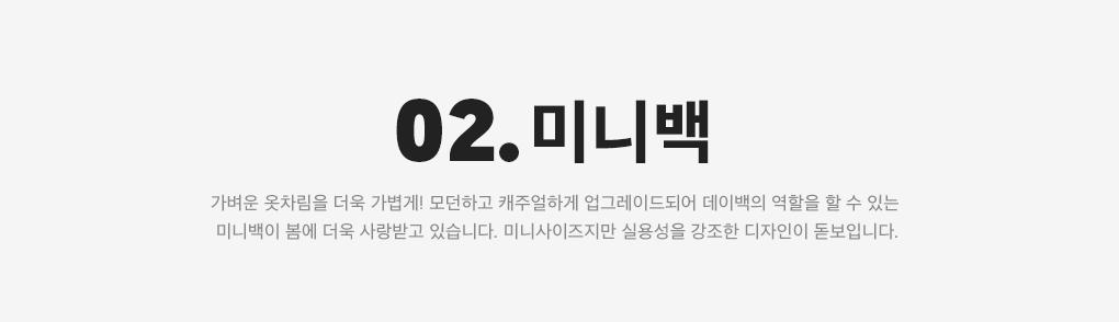 02. #미니백