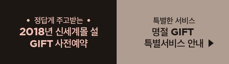 정답게 주고받는 2018년 신세계몰 설 GIFT 사전예약
