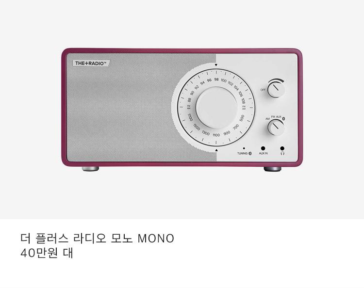 더 플러스 라디오 모노 MONO 40만원 대
