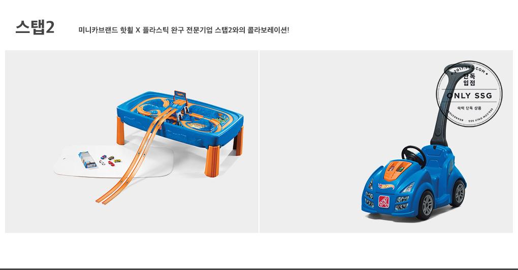 스탭2 미니카브랜드 핫휠 X 플라스틱 완구 전문기업 스탭2와의 콜라보레이션